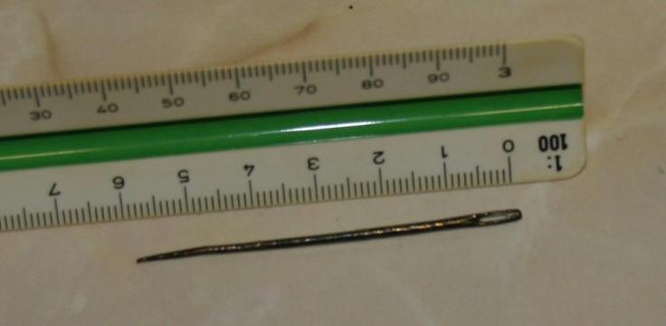 Midden bronze pin